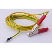 Zemnící kabel se svorkou